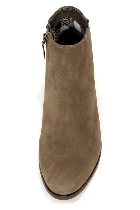 Very Volatile Brevin Taupe Leather Ankle Boots at Lulus.com!