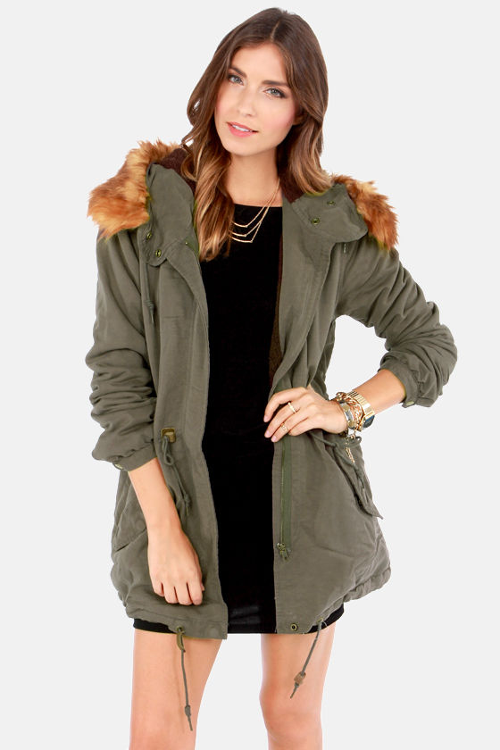 Obey Knights Bridge Parka - Olive Green Parka - Hooded Parka - $154.00