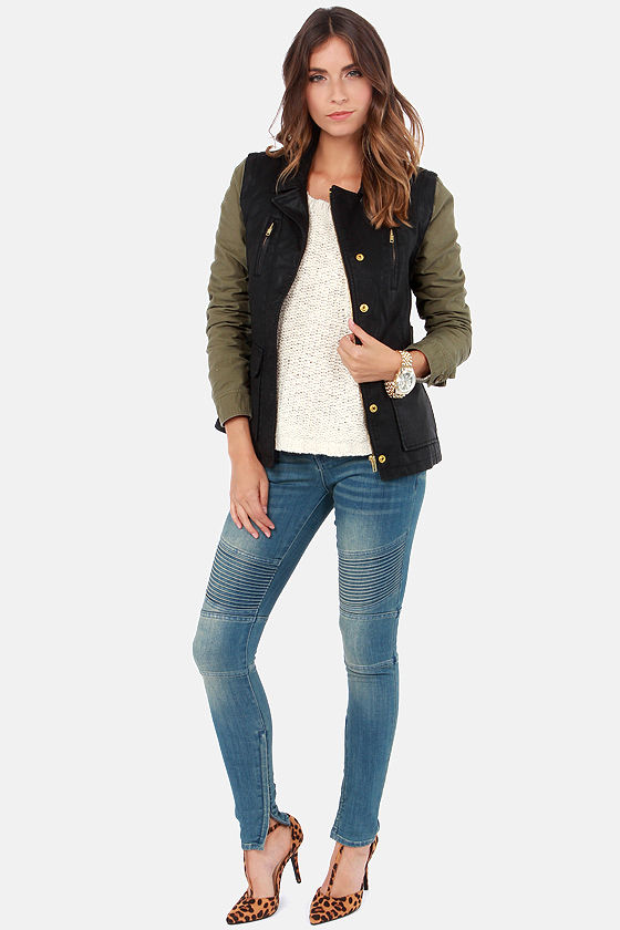 Obey Hearst Convertible Olive and Black Jacket at Lulus.com!