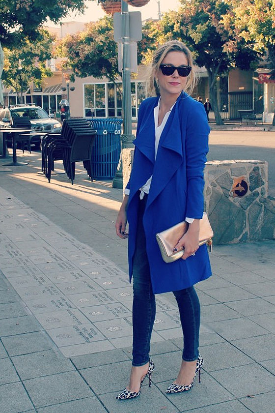 Aryn K Coat of Arms Royal Blue Coat at Lulus.com!