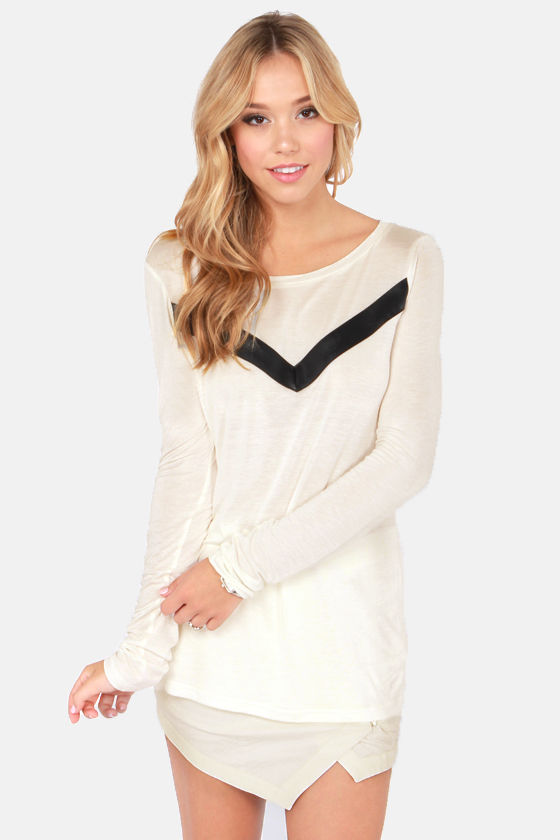 BB Dakota Deborah Ivory Top at Lulus.com!