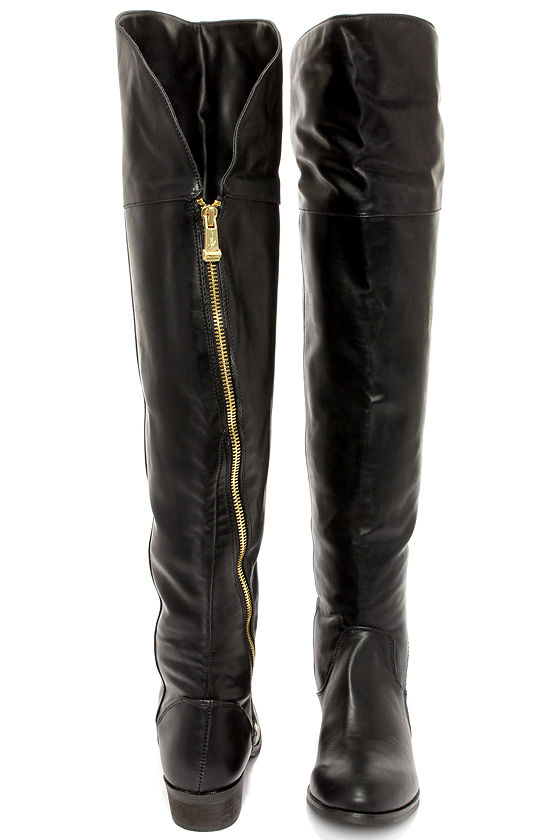 Report Signature Gwyn Boots - Black Boots - Over the Knee Boots