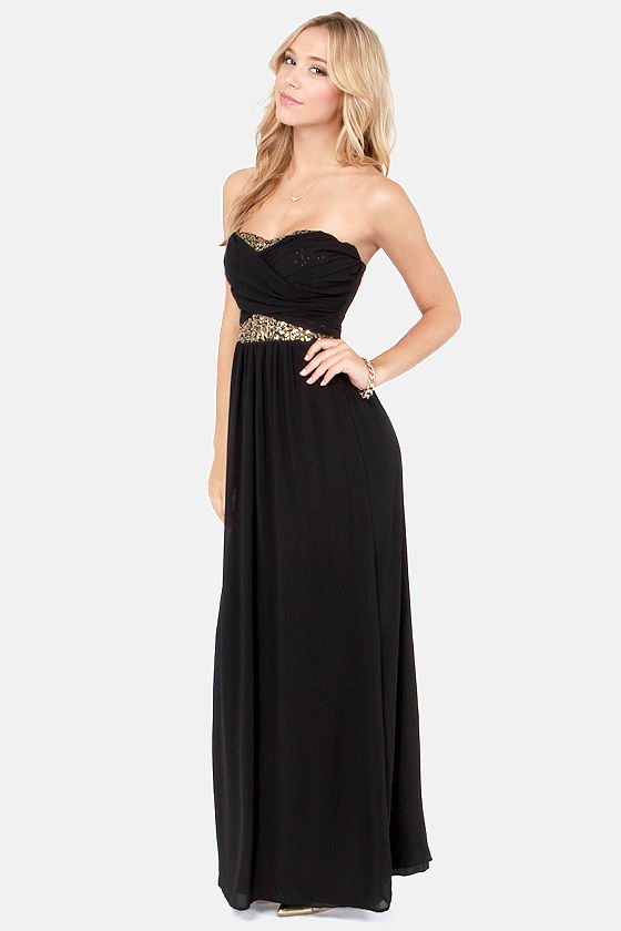 Talk of the Gown Black Sequin Maxi Dress at Lulus.com!