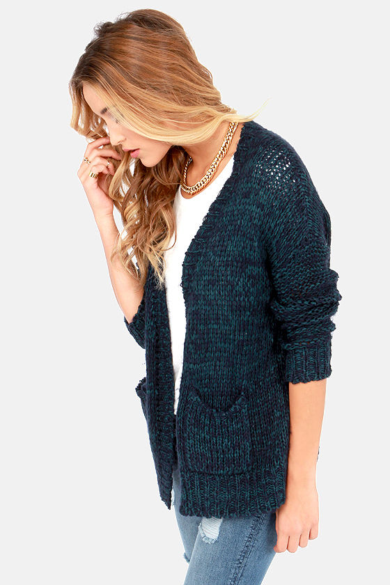 Good and Ready Blue Cardigan Sweater at Lulus.com!