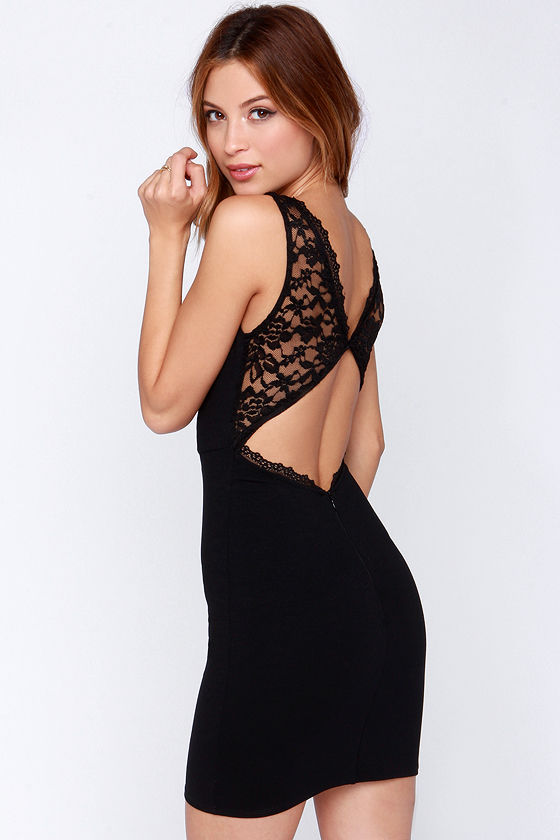 0f1c15c688d LBD - Black Dress - Bodycon Dress - Lace Dress -  44.00