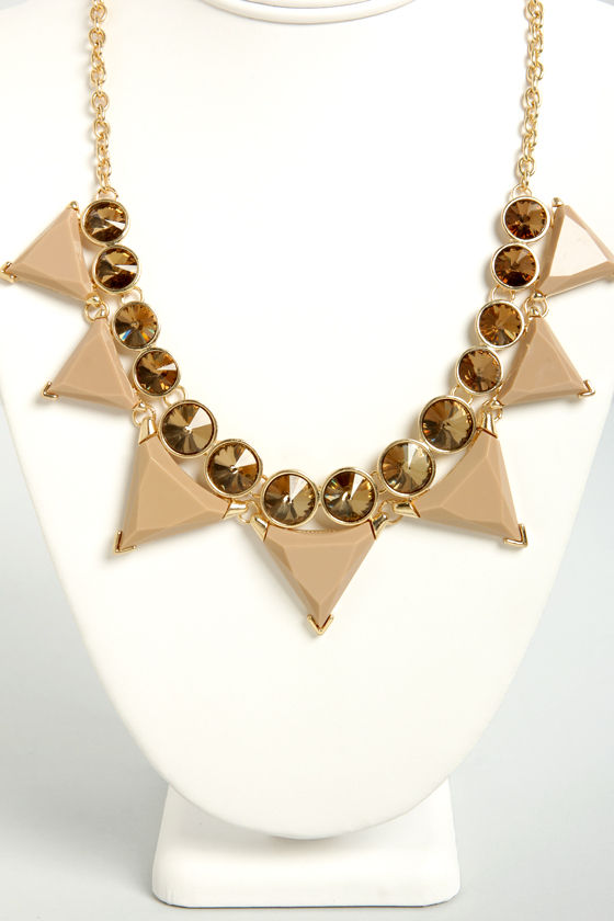 Tri Your Luck Beige Statement Necklace at Lulus.com!
