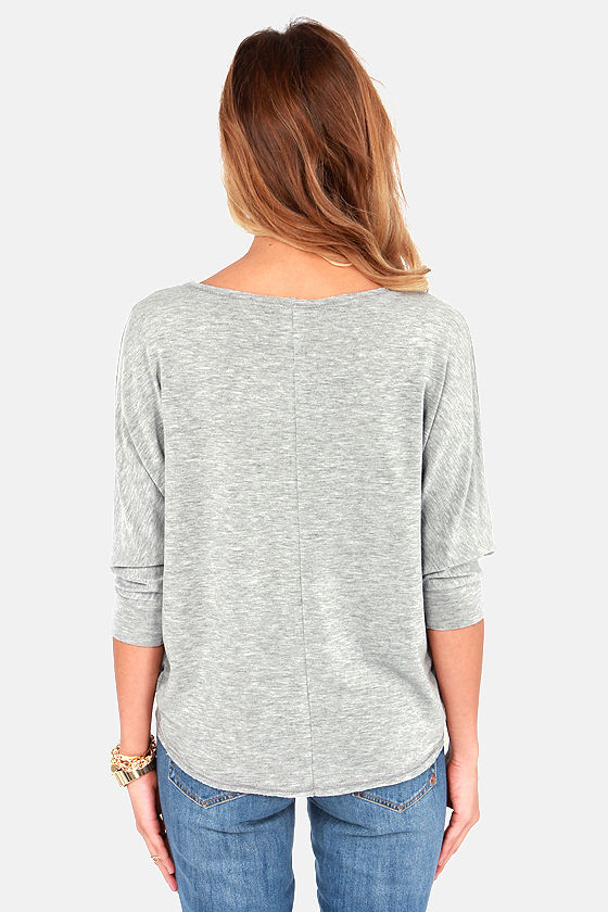 Unfinished Business Grey Top at Lulus.com!