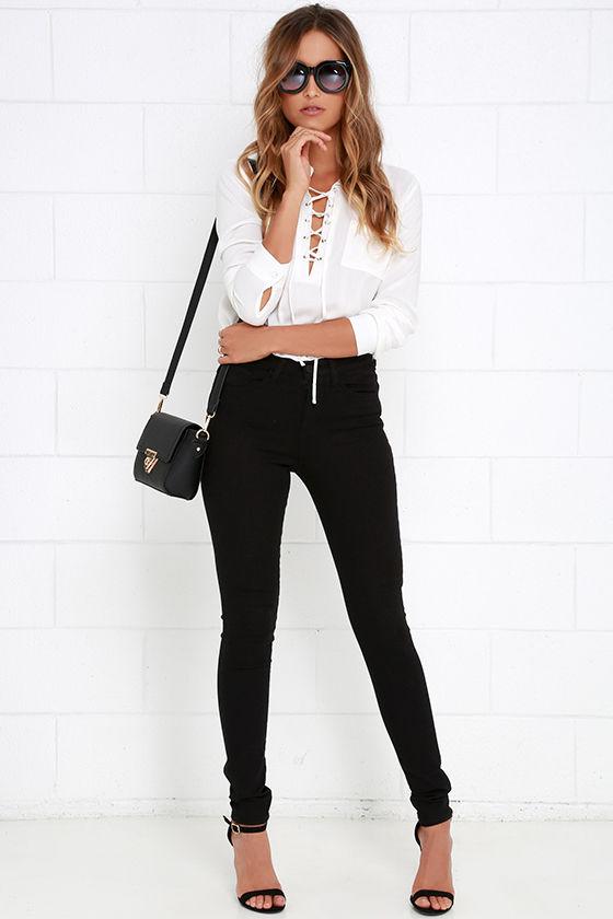 e729bb5619a Black Pants - Black Jeans - High Waisted Jeans -  61.00