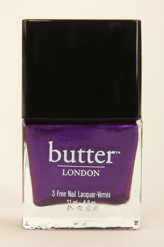 Butter London HRH Royal Purple Nail Lacquer at Lulus.com!