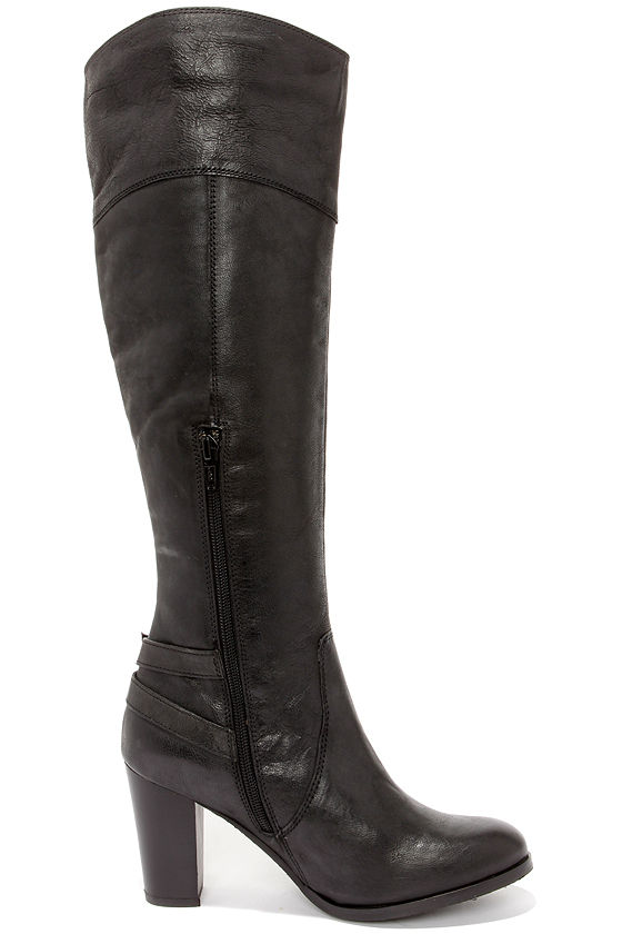 Luxe Black Boots Knee High Boots High Heel Boots 167 00