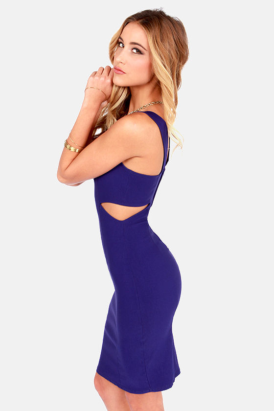 I Feel Midi Cutout Blue Dress at Lulus.com!