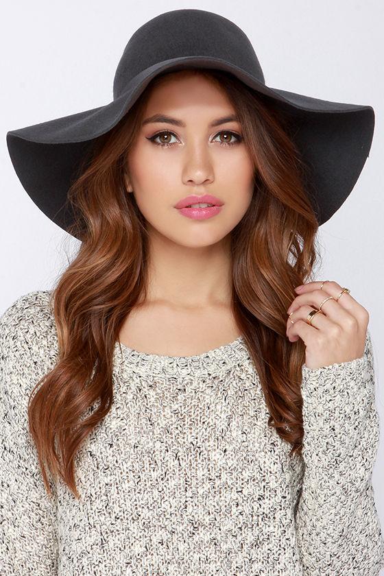 c47da2d3285 Chic Grey Hat - Floppy Hat - Wide Brimmed Hat -  32.00