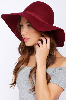 1b097c6184f Chic Burgundy Hat - Floppy Hat - Wide Brimmed Hat -  32.00