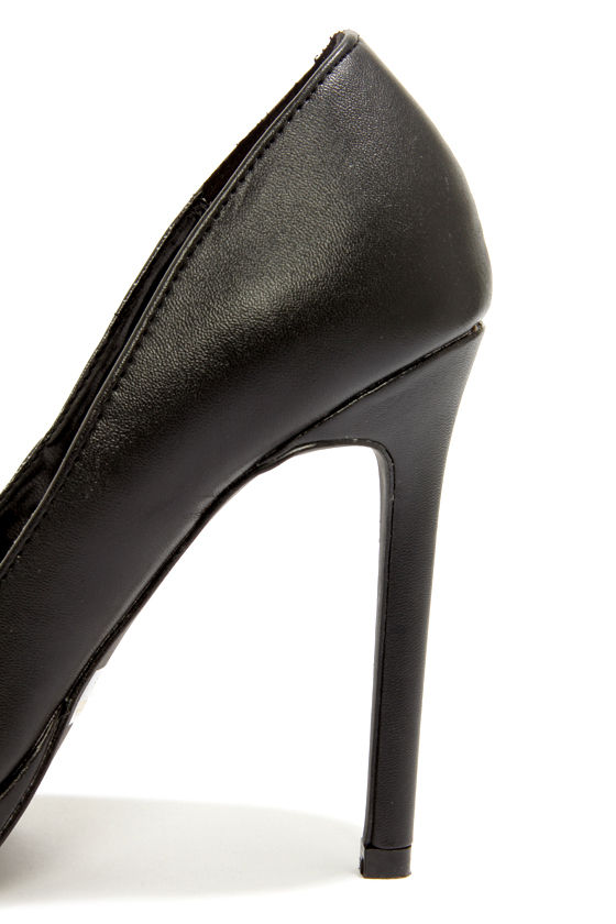 Report Tanzy Black Pointed Platform Heels at Lulus.com!