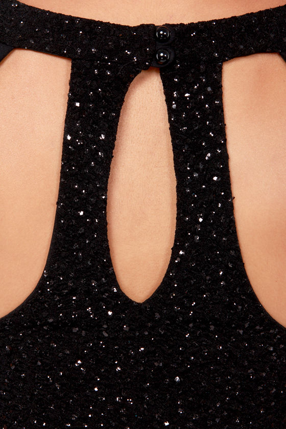 That Certain Sparkle Black Dress at Lulus.com!