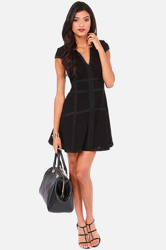 In Good Company Black Dress at Lulus.com!