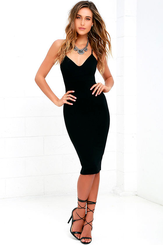 Chic Black Dress - Bodycon Dress - LBD - Sleeveless Dress - $54.00