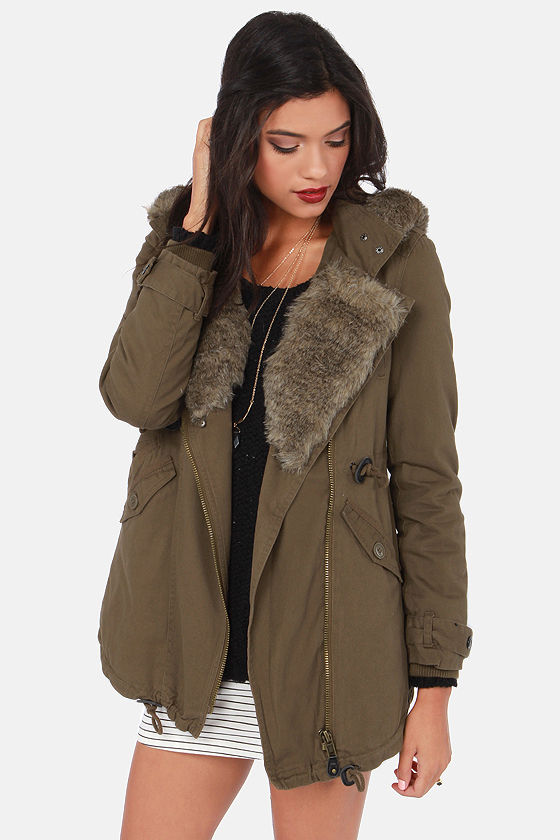 Fur Better or Worse Brown Hooded Parka at Lulus.com!