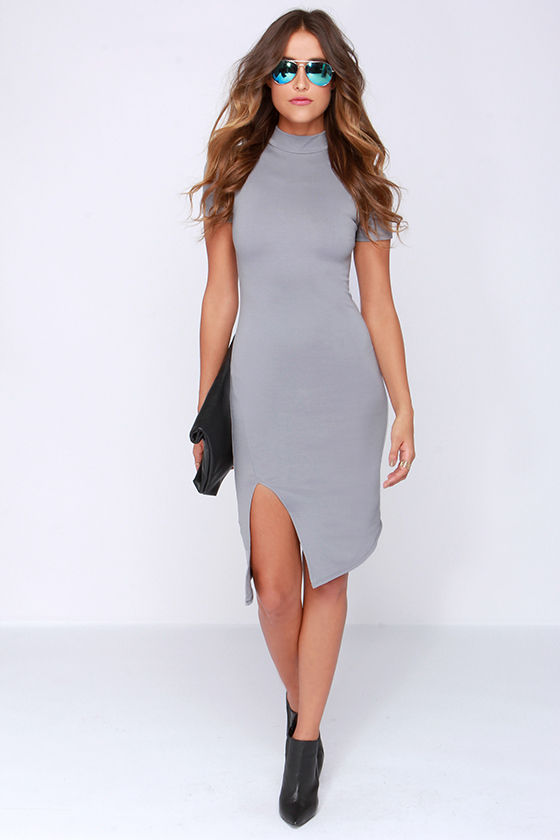 Grey Bodycon Dress Tumblr images