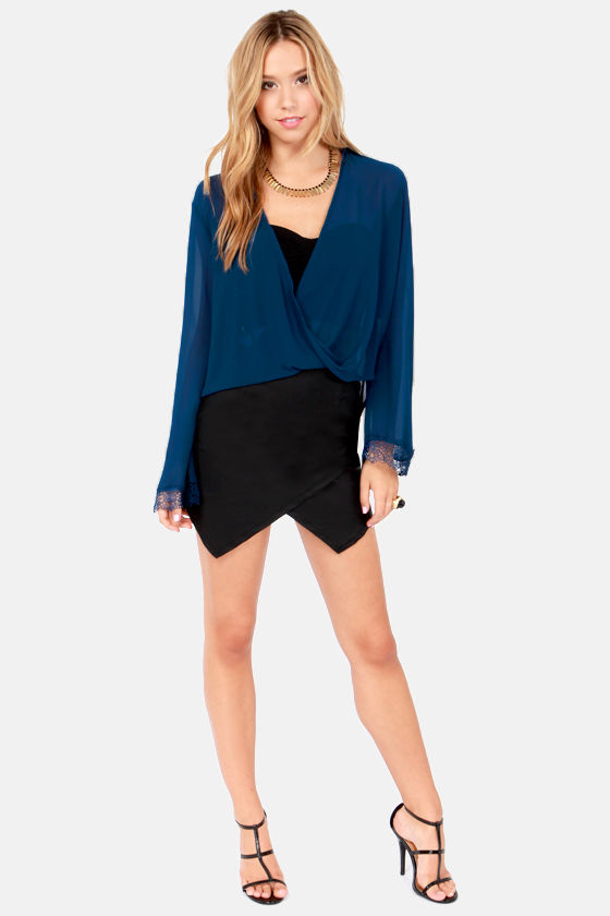 When I Bell For You Blue Top at Lulus.com!