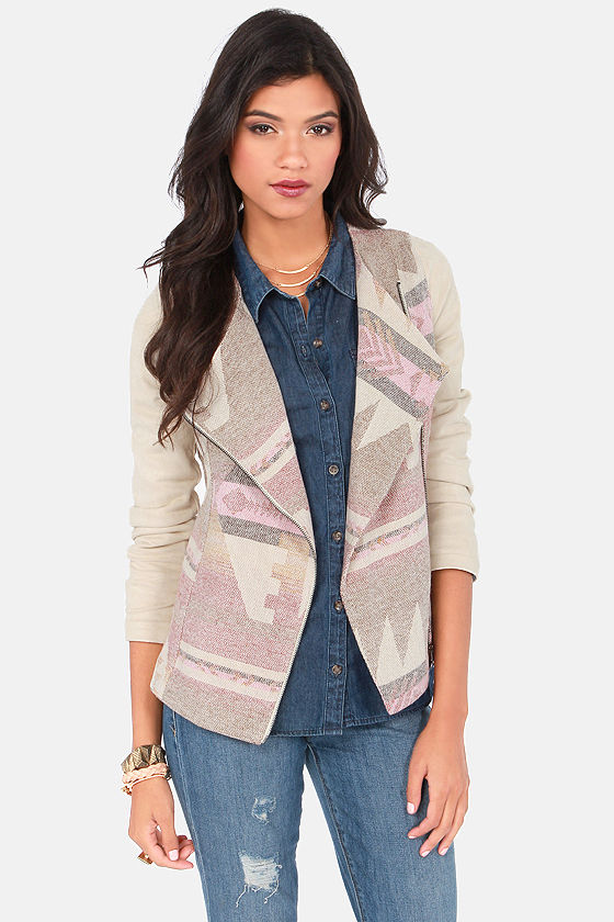 West Friends Cream Southwest Print Jacket at Lulus.com!