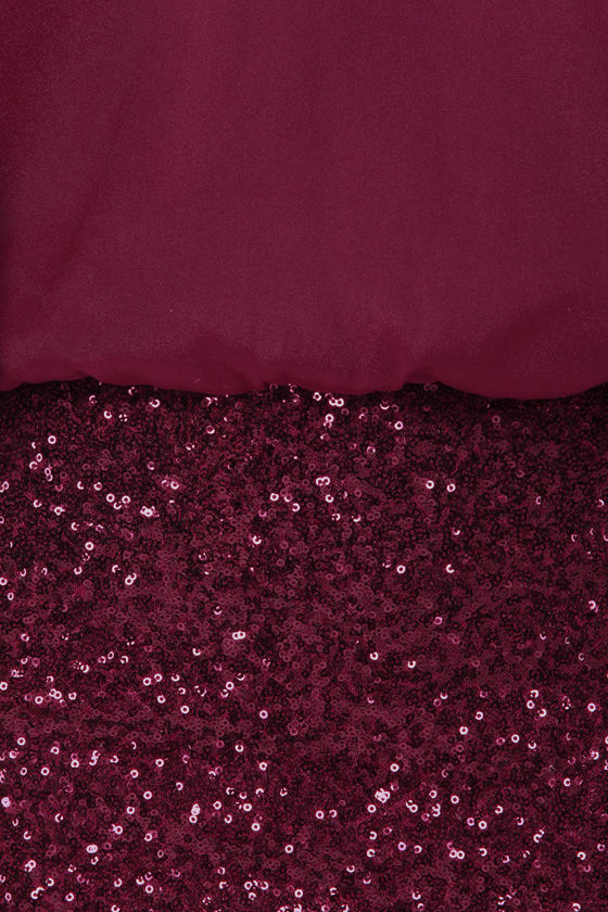 Cast a Spell Burgundy Sequin Dress at Lulus.com!