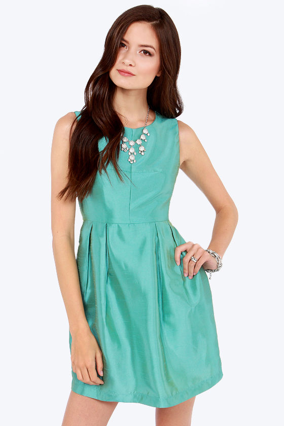 Dancer and Vixen Seafoam Dress at Lulus.com!