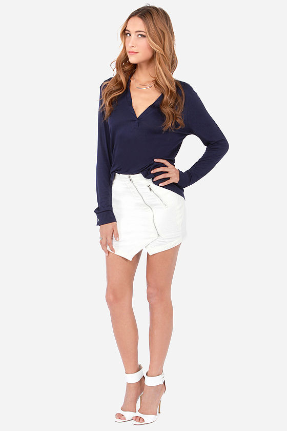 Glad to V You Navy Blue Top at Lulus.com!