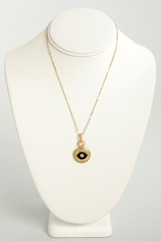 The Black Eyed Pendant Gold Pendant Necklace at Lulus.com!
