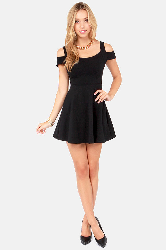 She-Devil Black Dress at Lulus.com!