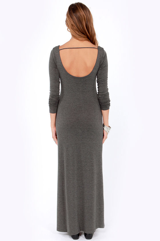 Lucy Love Jezabelle Grey Maxi Dress at Lulus.com!