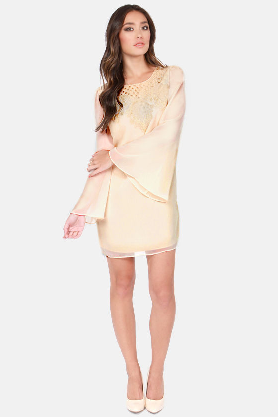 Spoonful of Moonlight Embroidered Cream Shift Dress at Lulus.com!