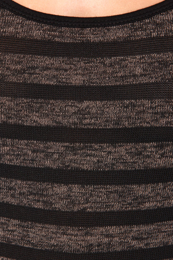 All the Hype Brown and Black Striped Maxi Dress at Lulus.com!