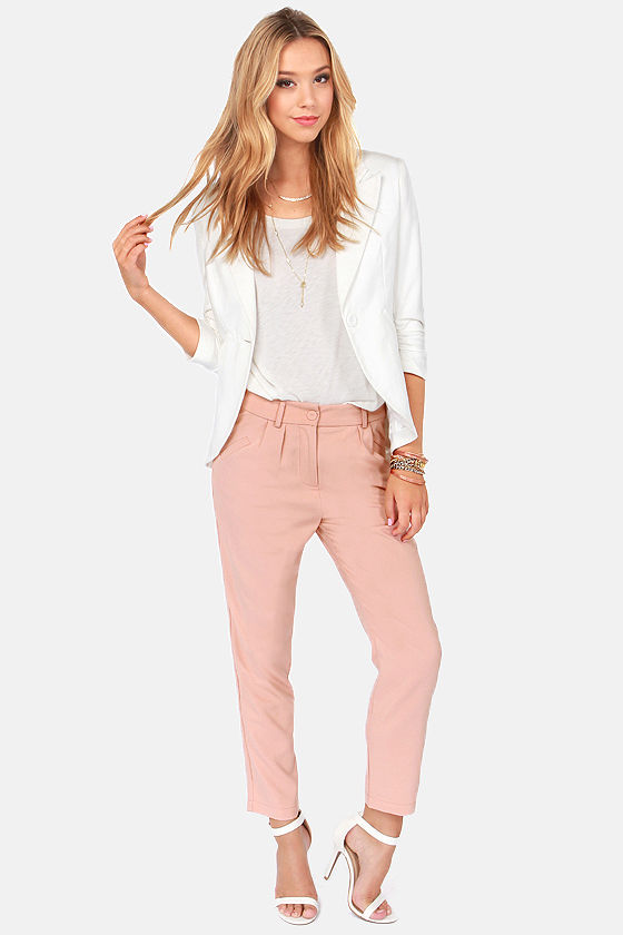 Goes To Show Pleated Blush Pants at Lulus.com!