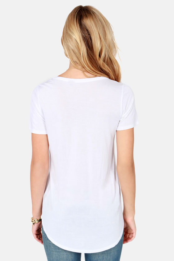 Sweet Simplicity White Top at Lulus.com!
