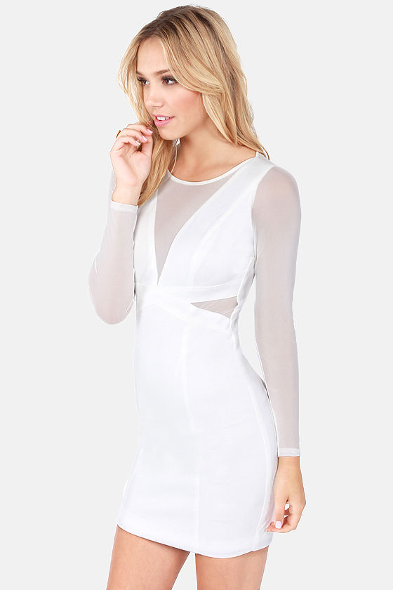 Need Your Love Cutout Ivory Dress at Lulus.com!