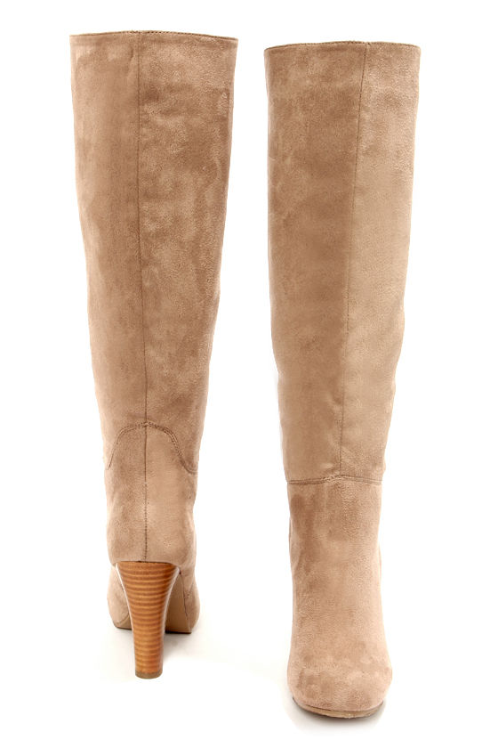 d6a56a8deb5 Cute Taupe Boots - Knee High Boots - High Heel Boots -  56.00