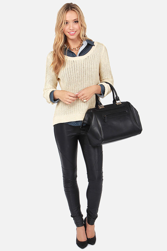 Billabong Ocean Drifter Beige Knit Sweater at Lulus.com!