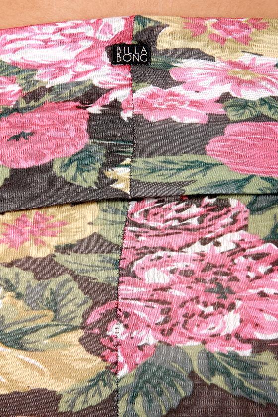 Billabong Dial My Heart Floral Print Maxi Skirt at Lulus.com!
