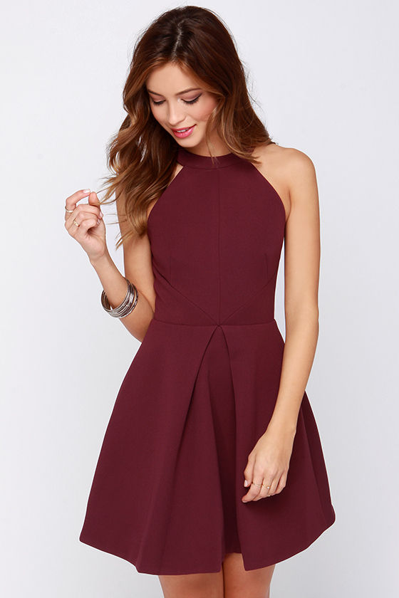 Keepsake Adore You - Burgundy Dress - Cocktail Dress - $169.00