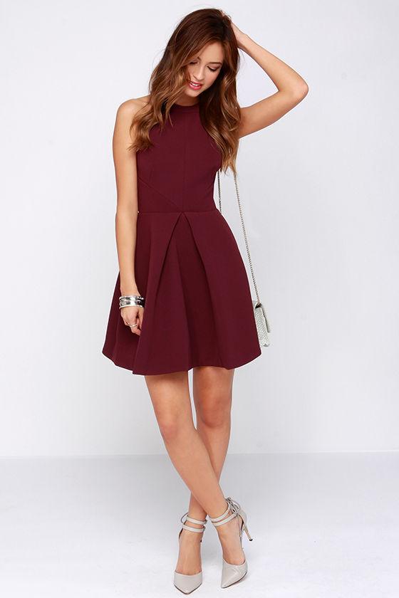 Keepsake Adore You - Burgundy Dress