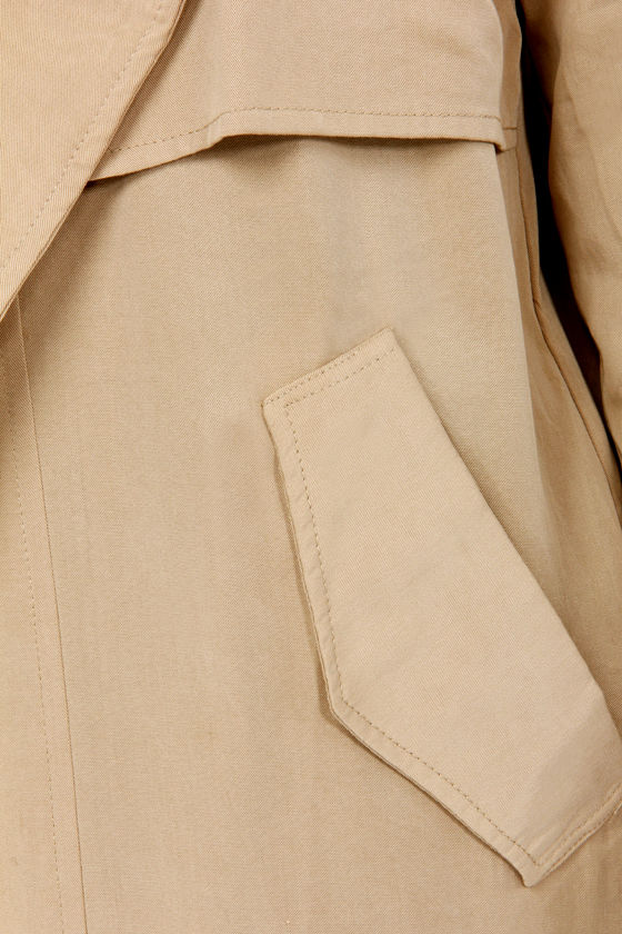 Trench Kiss Beige Jacket at Lulus.com!