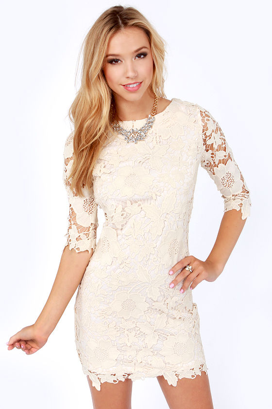 Darling Jenny Dress - Cream Dress - Lace Dress - $109.00