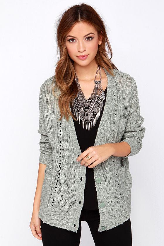 Cute Cardigan Sweater - Green Sweater - Button Cardigan - $63.00