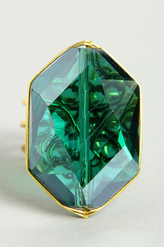 Candy Crystal Teal Green Ring at Lulus.com!