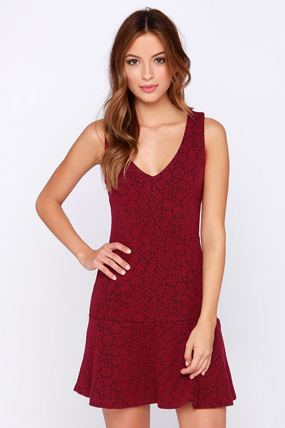 Others Follow Laurent Wine Red Dress