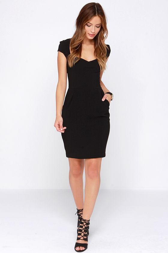 Pretty LBD - Black Dress - Sheath Dress - Cocktail Dress - $48.00