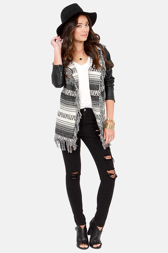 RVCA Shock Rock Ivory and Black Jacket at Lulus.com!