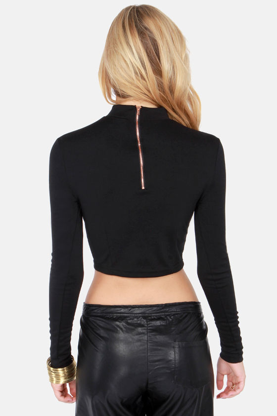 Show Who's Boss Black Crop Top at Lulus.com!