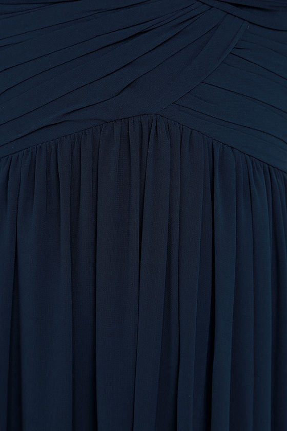 Bariano Ocean of Elegance Navy Blue Maxi Dress at Lulus.com!